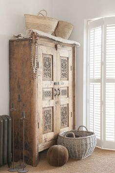 Vintage French Soul ~ cupboard love, this is gorgeous I don't even want to paint it white!