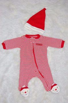 Carter's Baby Santa Helper Red Sleepsuit Sleeper Newborn #Carters