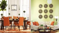 With Tango Orange being Pantone's Color of the Year for 2012, note that the walls aren't orange, just the accents.  All of which is easily changable!