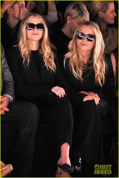 Mary-Kate & Ashley Olsen @ J. Mendel Fall 2012 show. I love how much black they wear...my kind of fashion.