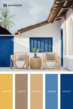 Beach Color Palettes, Colour Pallete, Colour Schemes, Color Azul, Azul Pantone, Pantone Color, Web Design Inspiration, Color Inspiration, Color Style