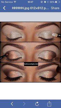 Sparkly Holiday Eye Makeup Nail Design, Nail Art, Nail Salon, Irvine, Newport Beach