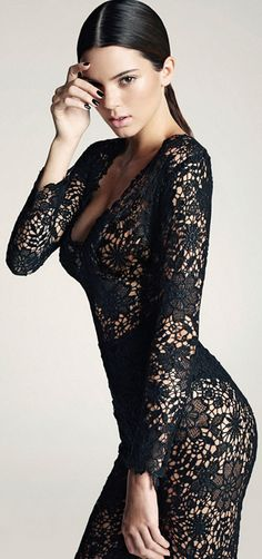 Black Body-Con Lace Dress