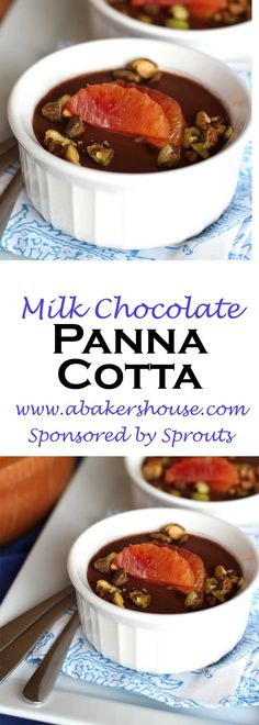 This milk chocolate panna cotta is a simple dessert that easily impresses. Even better, it can (and needs to) be made ahead of time which frees you from panicking last minute over that perfect ending to a special meal. A Whole Foods recipe.