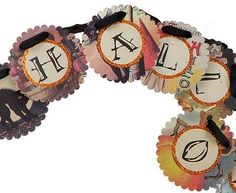 halloween garland with vintage postcards - Google Search