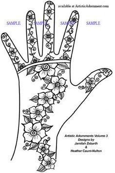 easy henna flower design free mehndi pattern