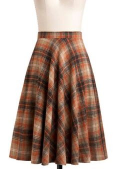 Simple Math Skirt in Orange, #ModCloth