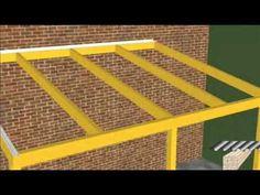 Holz-Terrassenüberdachung selber bauen (REXOcomplete) - YouTube