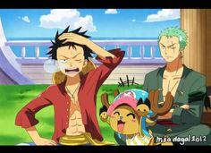 Luffy imiting Zoro