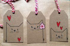 Mit wenigen Strichen süße Kätzchen...