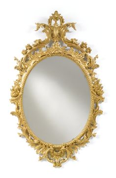 A George II giltwood oval pier mirror circa 1755; height 4 ft. 4 3/4 in.; 31 1/2 in. / 134 cm; 80 cm