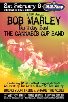 The 20th Annual Bob Marley Birthday Bash (2.6.16)