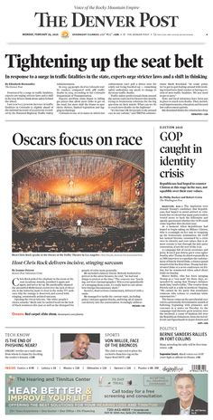 #20160229 #USA #COLORADO #DENVER Monday FEB 29 2016 #TheDenverPost http://www.newseum.org/todaysfrontpages/?tfp_show=80&tfp_page=1&tfp_id=CO_DP