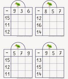 und die Kinder, die Futter brauchen.. LG Gille Schrift: Grundschrift Will Software Bilder: fotolia Andrea Petrlik hier eine Ans... Math For Kids, Fun Math, Math Games, Math Activities, 1st Grade Worksheets, 1st Grade Math, Math Class, Math Subtraction, Montessori Math