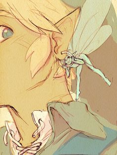 Link & fairy 2/6 , honestly the best illustration of links fairy
