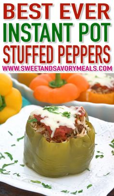 Instant Pot Stuffed Pepper is the perfect blend of ground beef seasoning and rice. Instant Pot Stuffed Pepper is the perfect blend of ground beef seasoning and rice. Best Instant Pot Recipe, Instant Pot Dinner Recipes, Recipes Dinner, Instant Pot Pressure Cooker, Pressure Cooker Recipes, Pressure Cooking, Beef Recipes, Cooking Recipes, Healthy Recipes
