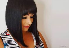 Considering an Inverted Bob with Bangs? Here are 22 Cute Ideas - Hairstyles Trend 2020 Long Bob With Bangs, Bob Haircut With Bangs, Bob Hairstyles With Bangs, Lob Haircut, Pixie Haircuts, Braided Hairstyles, Wavy Inverted Bob, Angled Bobs, Inverted Bob Hairstyles