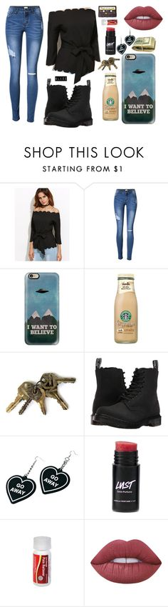 """""""Joyride"""" by elizz-denne on Polyvore featuring Casetify, Dr. Martens, Witch Worldwide and Lime Crime"""