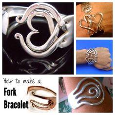 Recycle Old Forks Into Bracelets