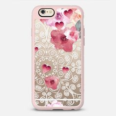 HAPPY SPRING VINTAGE & LACE - New Standard Case in Pink Gray and Clear by @monikastrigel | @casetify