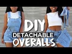 DIY Detachable Overalls/Dungarees – hacks girls tips Diy Clothes Jeans, Diy Summer Clothes, Clothes Crafts, Summer Diy, Cheap Clothes, Jean Outfits, Cool Outfits, Summer Outfits, Shorts Diy