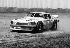 Chevrolet Camaro late-model dirt tracker.