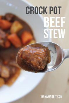 RECIPE: Crockpot Beef Stew   MADE