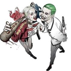 Some pretty awesome fan art of Harley and Joker from Suicide Squad