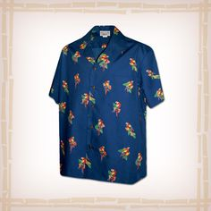 "FREE SHIPPING – EVERY ORDER, EVERY DAY! Hawaiian Shirt ""Parrot Dot"" By Pacific Legend – Navy  Coconut shell buttons and matching print engineered chest pocket. This Pacific Legend Hawaiian Shirt Garment is 100% Cotton and MADE IN HAWAII.http://hawaiianshirtdude.com/product/hawaiian-shirt-parrot-dot-by-pacific-legend-navy/"