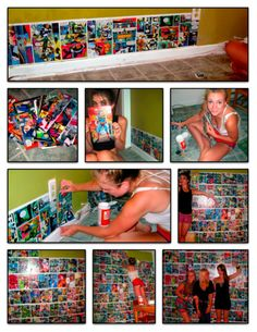 making of the comic book wall