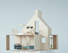 make a modern dollhouse
