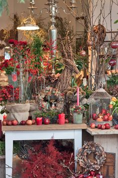 Zita Elze's flower shop in Kew, England - Christmas 2013