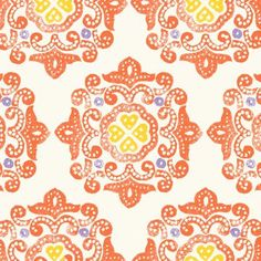 One yard of Impressions Delhi  Orange by Ty by Sewtropolis on Etsy, $11.99