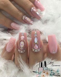 A cor e ROSA ACRÍLICO da @avonbrasil #Rosa #nails#unhasdasemana #unhas #unha #unhasdeluxo#cliqueunhas #cuccio #joiasdeunhas… Gel Uv Nails, 3d Nails, Matte Nails, Acrylic Nails, 3d Nail Designs, Acrylic Nail Designs, Nail Jewels, Bridal Nails, Mani Pedi