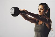 Kettlebell workouts in nature build strength, burn calories and trigger the afterburn effect, and this 20-minute kettlebell high intensity workout is no exception. In fact, it can burn almost 400 calories in 20 minutes.