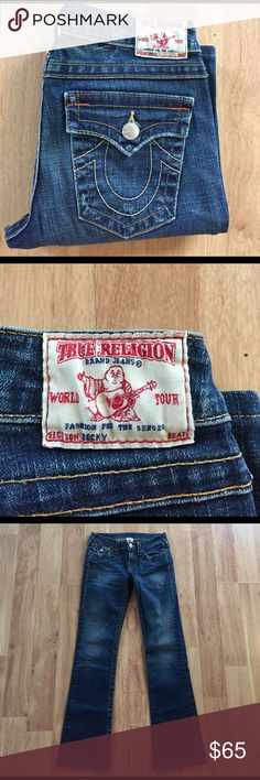 NWOT True Religion jeans✨ NWOT True Religion jeans✨excellent condition, never worn. World tour jeans section Becky! Size 27 inseam 31 inches. True Religion Jeans Straight Leg