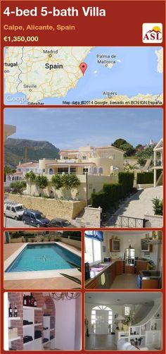 4-bed 5-bath Villa in Calpe, Alicante, Spain ►€1,350,000 #PropertyForSaleInSpain