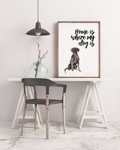 Home Is Where My Dog Is Black Labrador Print Labrador Black Labrador, Watercolor Print, Dog Breeds, Things To Think About, Colours, Lettering, Pop, Wall, Prints