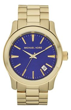 Michael Kors 'Large Runway' Bracelet Watch, 44mm available at Nordstrom.  Absolutely love this!!