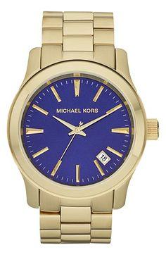 Michael Kors 'Large Runway' Bracelet Watch, 44mm | Nordstrom