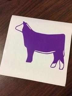Show Heifer Clip Art Cow Silhouette 1 Decal Sticker Cows