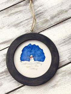Watercolor Snowman Ornament Paper Ornaments, Hand Painted Ornaments, Snowman Ornaments, Watercolor Cards, Watercolour Painting, Apartment Christmas, Arches Paper, Sketch, Holidays