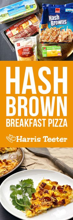 Everyone's favorite food made especially for breakfast! A hash brown crust is topped with cheese, eggs and bacon for a hearty and tasty breakfast all will love!