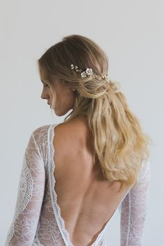 POETIC floral bridal hair vine boho bridal headpiece