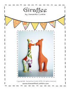 Giraffe Toy Sewing Pattern - PDF Instant Digital Download