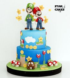 Super Mario Bros cake - Cake by Star Cakes