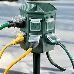 Certainly would make Christmas decor easier. Weatherproof Outdoor Timer Power Strip Now $24.97