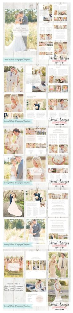 INSTANT DOWNLOAD - Wedding Magazine Template 24 pages for wedding photographer…