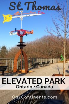 St. Thomas, ON has a new attraction - the Elevated Park. It was created on the abandoned Kettle Creek railway bridge giving a second life to the old bridge ruin, and offering locals and visitors a nice walking trail with panoramic views. #cityofstthomas #ontario #canada #elevatedpark #hiking #trails #stthomasontario #attraction #video #swontario #ldnont #ldngem #londonontario #familytravel #familytrip St Thomas, Second Life, Hiking Trails, Kettle, Family Travel, Ontario, Abandoned, Attraction, Travel Inspiration