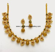 Nakshi Balls Mango design gold Necklace